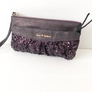 Juicy Couture purple sequin wristlet